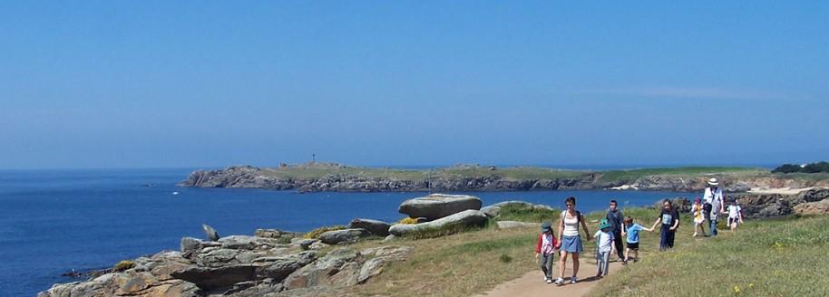 Randonnée - Vieux château - Île d'Yeu - Sorties scolaires et classes de mer en Vendée - © JCB