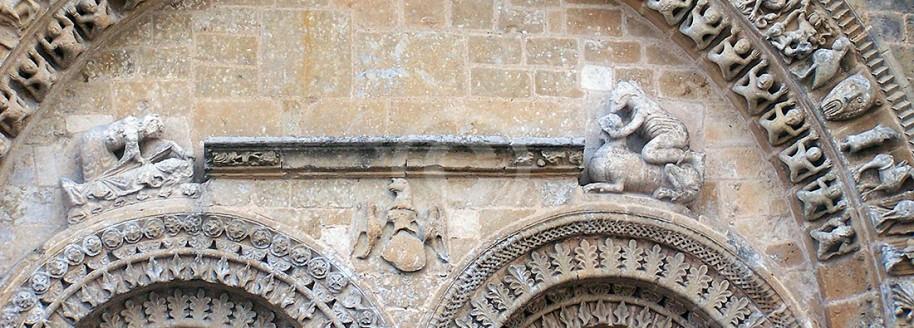 Portail roman de l'église - Vouvant - Vendée