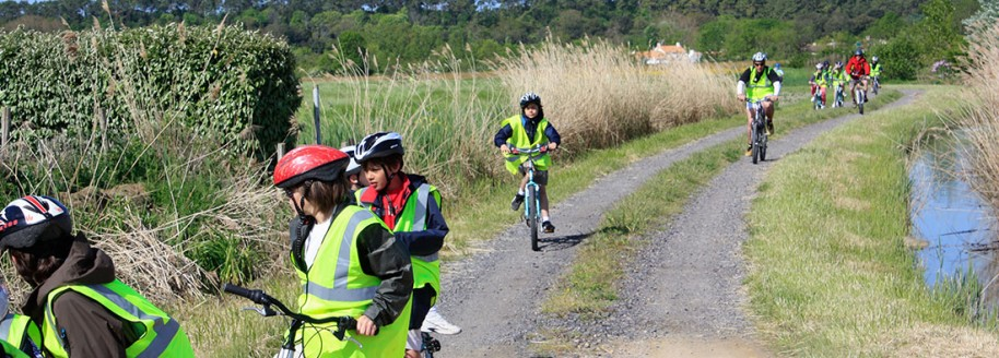 Randonnée cyclo - Côte vendéenne - Sorties scolaires et classes de mer en Vendée - © JCB