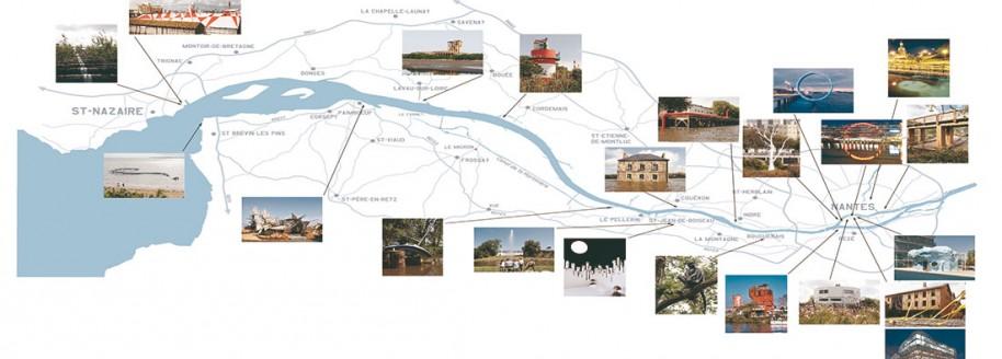 Carte estuaire - Nantes Saint-Nazaire - Loire atlantique