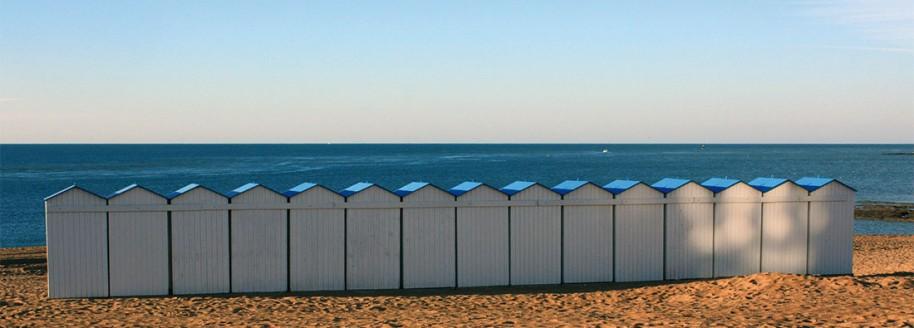 Cabines de plage - Boisvinet - Saint-Gilles-Croix-de-Vie - Vendée - © JCB
