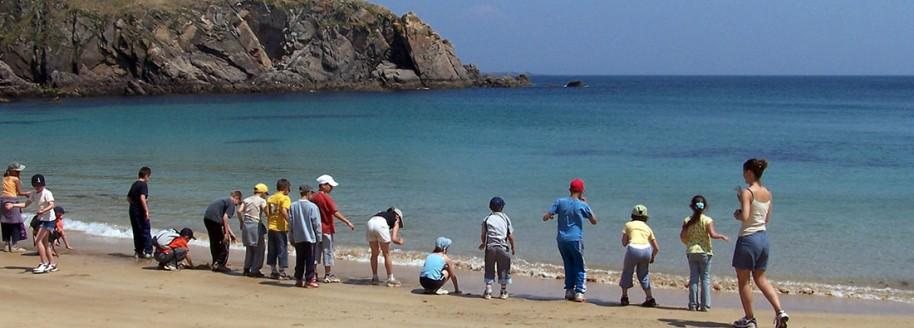 Anse des Soux - Île d'Yeu - Sorties scolaires et classes de mer en Vendée - © JCB